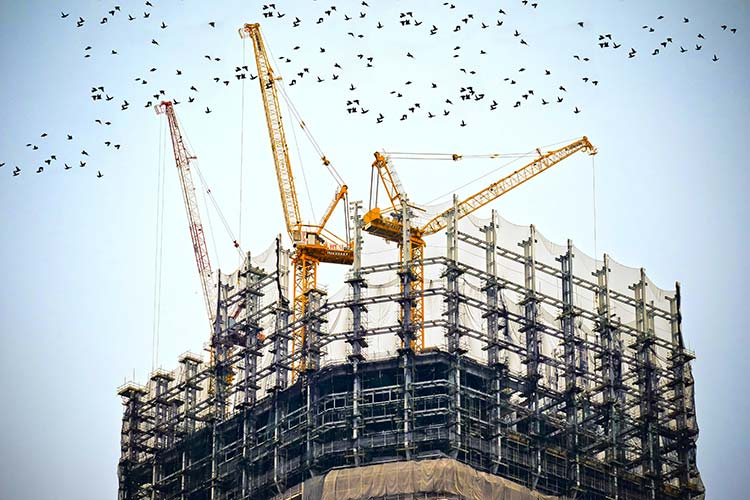 A building in construction